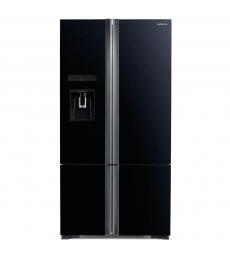 HITACHI szabadonálló hűtőszekrény, 4 ajtós, 587l, kristály fekete