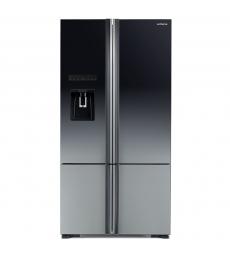 HITACHI szabadonálló hűtőszekrény, 4 ajtós, 587l, árnyaltszürke üveg