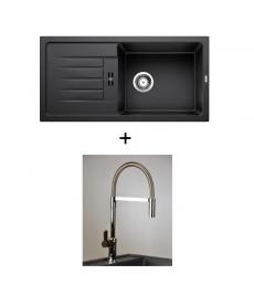 AKCIÓ! Blanco Favum XL 6 S + olasz zuhanyfejes Master csaptelep